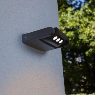 Lutec Mini LED Spot einstellbare Außenwandleuchte IP65 Anthrazit
