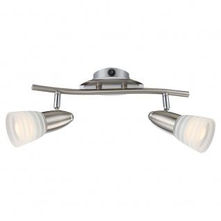 Globo 54536-2 Caleb Strahler Nickel-Matt Chrom 2xE14 LED