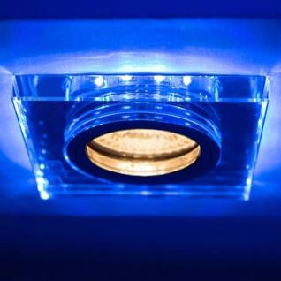 Soren GU10 Decken-Einbauleuchte mit blauen LED`s 9 x 9cm Einbaustrahler 230V