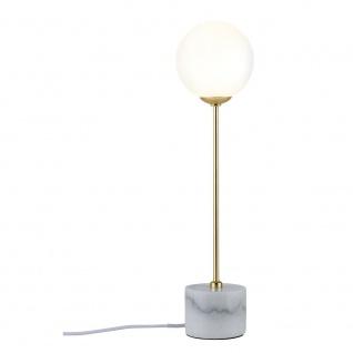 Paulmann Neordic Moa Marmor Tischleuchte Weiß Gold 79661