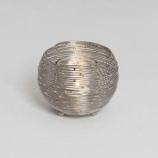 Holländer 297 3511 Windlicht Boccia Piccolo Stahldraht Vernickelt Silber