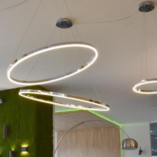 s.LUCE pro LED-Hängelampe Ring M Dimmbar Ø 60cm in Chrom Wohnzimmer Ring - Vorschau 5
