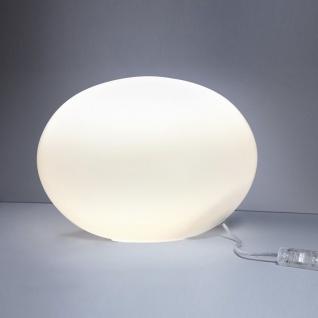 s.LUCE M Sitter Opalglas Tischleuchte Ø 30cm Weiss Tischlampe Kugelleuchte