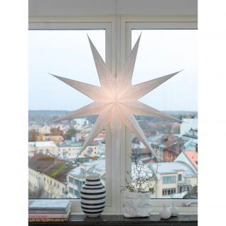 Konstsmide 2974-200 Weißer Papierstern, perforiert, inkl. 9 Zacken, Anschlusskabel mit an/aus Schalter, ohne Leuchtmittel, E14 Lampenhalterung für Innenbereich