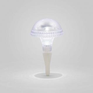 Assisi Pilz Solar LED Leuchte Weiß Solar Gartenlampe Gartenleuchte - Vorschau 4