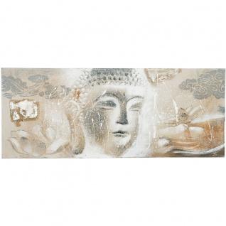 Holländer 273 3120 Wandbild Buddismo Gross Leinwand-Holzrahmen Grau-Weiss-Sand - Vorschau 3