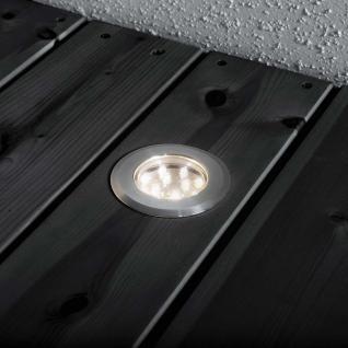 Konstsmide 7677-000 Mini LED Bodenspots 3-tlg. Erweiterungsset zu 7654 / Edelstahl, klares Glas