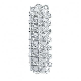 Eglo 94316 Lonzaso LED Wandleuchte 6 x 33 W Alu Stahl Chrom Kristall klar