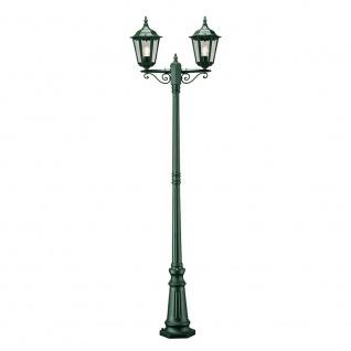 Konstsmide 7234-600 Firenze Standleuchte mit 2 Leuchtenköpfen Grün klares Glas