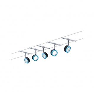 Paulmann Wire System BlueLED 5x4W Schwarz Blau Chrom 12V 3982