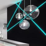 s.LUCE Mylight Orb XL / Pendelleuchte Ø 40 cm / Klar / Pendellampe Glaslampe
