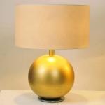 Holländer 039 K 1259 Tischleuchte Alpha Keramik-Metall BlattverGoldet-Vernickelt