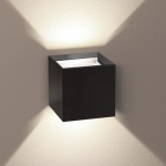 s.LUCE pro Ixa LED Wandleuchte + verstellbare Winkel IP44 Aussen-Wandlampe Schwarz