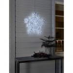 LED Acryl Schneeflocke mit 8 Funktionen 90 kaltweisse Dioden 24V Außentrafo