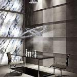Toneria / Kristall LED Hängeleuchte / chrom / 128 x 0, 5W / Hängelampe