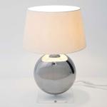 Holländer 039 K 1260 Tischleuchte Bowling Keramik-Plexiglas Metallic-Klar