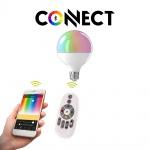 E27 LED-Leuchtmittel Connect 13W RGB+CCT Bluetooth WIFI APP IOS Android