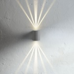 Licht-Trend Baleno / Aussen LED-Wandlampe + 7 Lichtfilter / grau / Wandlampe