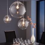 s.LUCE Mylight Orb L / Pendelleuchte Ø 30 cm / Klar / Pendellampe Glaslampe Glas