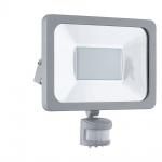 Eglo 95411 LED Sensor Aussenstrahler Faedo 1 / 50W / 4450 Lumen / Silber