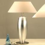 Holländer 039 K 1238 Tischleuchte Lambda Sottile Grande Keramik-Metall BlattverSilbert-Vernickel