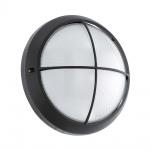 Eglo 96342 Siones 1 LED Aussen-Wandleuchte mit Struktur Ø 26cm 850lm Schwarz