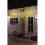 Konstsmide 2378-500 LED Biergartenkette 10er bunt 80 warmweisse Dioden 24V Lichterkette