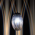 s.LUCE Amoca Hängeleuchte mit Lichteffekt Hängelampe Schwarz Chrom