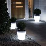 Konstsmide 7637-000 Assisi LED Pflanzentopf 28 cm / 3000K