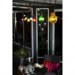 Konstsmide 2398-500 LED Biergartenketten 10er Set Lichterkette bunt + Trafo Erweiterbar 80 warmweisse Dioden 24V Lichterkette