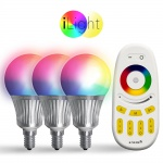 Starter-Set 3x E14 iLight LED + Fernbedienung RGBW LED Leuchtmittel Lampe
