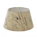 Eglo 49987 1+1 Vintage Lampenschirm Ø 25cm bedruckt Weiss Braun