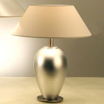 Holländer 039 K 1244 Tischleuchte Lambda Spesso Keramik-Metall BlattverSilbert-Vernickelt