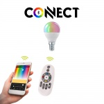 E14 LED-Leuchtmittel Connect / 5W / RGB + CCT Bluetooth WIFI APP IOS Android