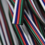 RGBW Verbindungskabel / 5 x 0, 82mm / 1 Meter / Zubehör / LED Strips Kabel / Trafo-Kabel