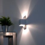 s.LUCE Gyhum / Wandleuchte mit effektvollem Up & Down-Effekt / Effekt Wandlampe