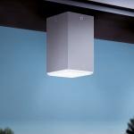 Eglo 94184 Tabo LED Außen-Aufbaudeckenleuchte 3, 7W Silber LED-Deckenlampe LED-Deckenleuchte