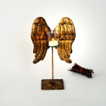 Holländer 472 3512 Windlicht Wings Klein Eisen-Glas Gold