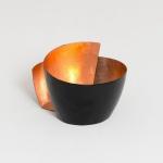 Holländer 257 3587 Windlicht 1-flg. Zucchero Metall Schwarz-Kupfer