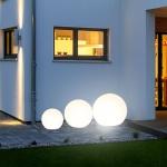 s.LUCE Globe+ / 3er Set Kugelleuchten mit LED / Ø 30, 40, 50 cm / Dekolampe Aussen