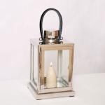 Holländer 240 3503 Laterne Lanterna Piccola Aluminium-Glas Silber-Schwarz