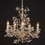 Holländer 178 1507 Hängeleuchte 5-flammig Buono Medium Eisen Silber