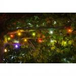 LED Biergartenketten Erweiterung 10er bunt 80 warmweisse Dioden