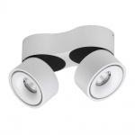 Licht-Trend LED Deckenstrahler Simple 2x680lm Weiß, Schwarz