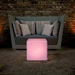 Moree Granite Cube LED Sitzwürfel Sitzmöbel