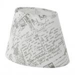 Eglo 49965 1+1 Vintage Lampenschirm 25 x 160cm bedruckt Grau Weiss