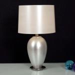 Holländer 039 K 1244 V Tischleuchte Sigma Spesso Keramik-Metall BlattverSilbert-Vernickelt