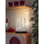 LED Metallleuchter weiß lackiert 13 Warmweiße Dioden 3V Innentrafo