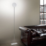Fabas Luce 3247-10-102 Fullmoon LED Stehleuchte 173cm 1000lm Weiß
