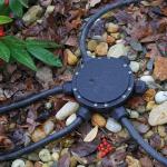 SLV 229260 Anschluss-Box rund 6-fach IP55 14mm Kabeldurchmesser
